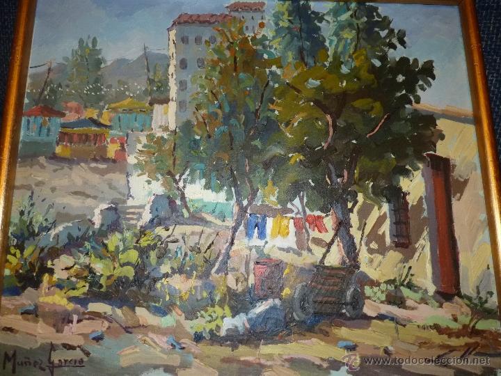 Arte: EXTRAORDINARIO CUADRO, PINTURA AL OLEO DEL PINTOR IMPRESIONISTA MALAGUEÑO GABRIEL MUÑOZ GARCÍA - Foto 2 - 40960035