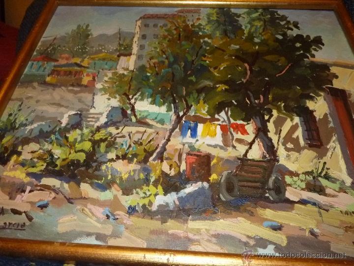 Arte: EXTRAORDINARIO CUADRO, PINTURA AL OLEO DEL PINTOR IMPRESIONISTA MALAGUEÑO GABRIEL MUÑOZ GARCÍA - Foto 4 - 40960035