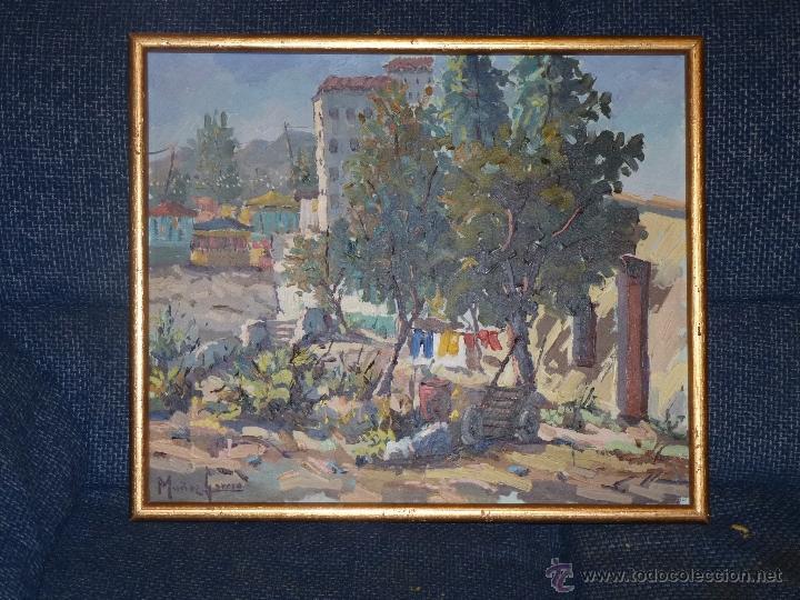 Arte: EXTRAORDINARIO CUADRO, PINTURA AL OLEO DEL PINTOR IMPRESIONISTA MALAGUEÑO GABRIEL MUÑOZ GARCÍA - Foto 5 - 40960035