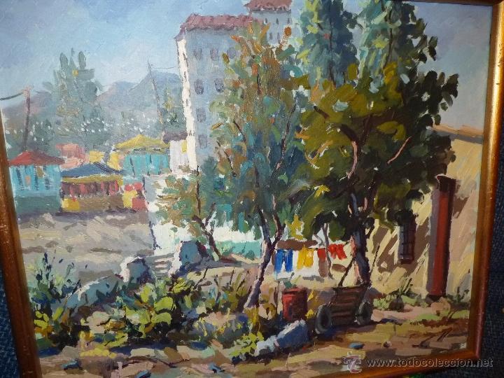 Arte: EXTRAORDINARIO CUADRO, PINTURA AL OLEO DEL PINTOR IMPRESIONISTA MALAGUEÑO GABRIEL MUÑOZ GARCÍA - Foto 6 - 40960035