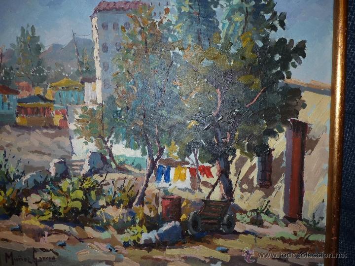 Arte: EXTRAORDINARIO CUADRO, PINTURA AL OLEO DEL PINTOR IMPRESIONISTA MALAGUEÑO GABRIEL MUÑOZ GARCÍA - Foto 9 - 40960035