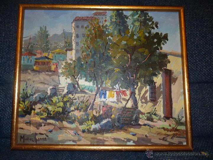 Arte: EXTRAORDINARIO CUADRO, PINTURA AL OLEO DEL PINTOR IMPRESIONISTA MALAGUEÑO GABRIEL MUÑOZ GARCÍA - Foto 10 - 40960035