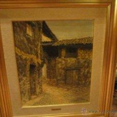Arte: OLEO SOBRE LIENZO - CASAS VIEJAS - FIRMADO POR MARIA ANTONIA YANES. MEDIDA PINTURA: 45 X 53 CMS.. Lote 40978014