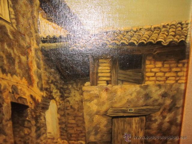 Oleo sobre lienzo casas viejas firmado por comprar - Casas viejas al oleo ...