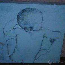 Arte: OLEO / TABLEX - ANÓNIMO - ATRIBUIDO A SACRIS - BEBÉ. Lote 40989174