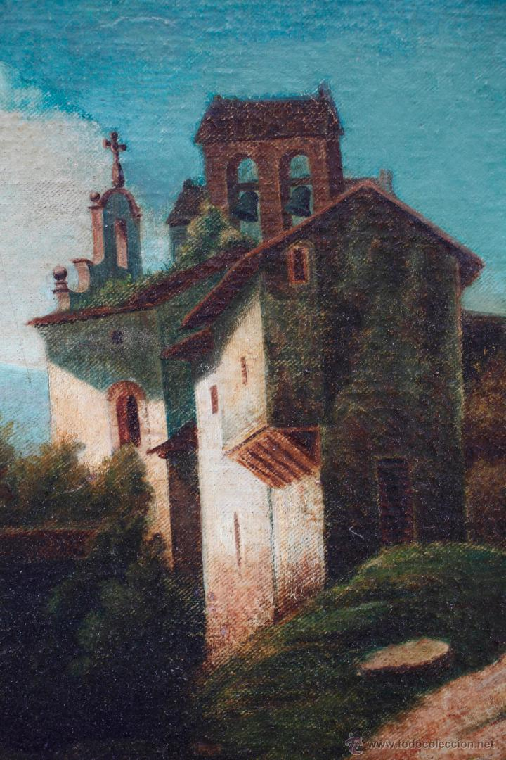 Arte: Ermita, óleo sobre lienzo 55x44 cm. Marco: 82x72 cm. - Foto 2 - 41022800
