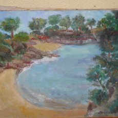Arte: OLEO / TELA- ANÓNIMO - PAISAJE CON LAGO. Lote 41092407
