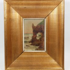 Arte: PAISAJE POR IDENTIFICAR, FIRMADO Y FECHADO EN 1926. ÓLEO SOBRE TABLA, 14X10CM. MARCO: 25X30CM.. Lote 41097196