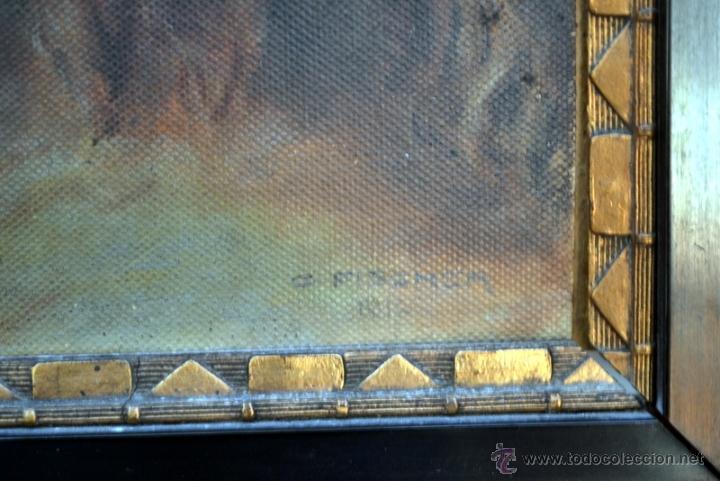 Arte: PINTURA AL OLEO LIENZO SOBRE TABLA, ROSTRO DE CRISTO, FIRMADA Y FECHADA - Foto 3 - 41099346
