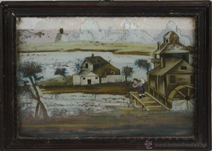 O1-065. OLEO POPULAR SOBRE CRISTAL - POSIBLE EX-VOTO - FINALES S.XVIII - PRINCIPIOS S.XIX (Arte - Pintura - Pintura al Óleo Antigua siglo XVIII)