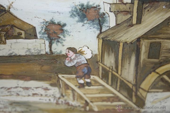 Arte: O1-065. OLEO POPULAR SOBRE CRISTAL - POSIBLE EX-VOTO - FINALES S.XVIII - PRINCIPIOS S.XIX - Foto 2 - 41202228