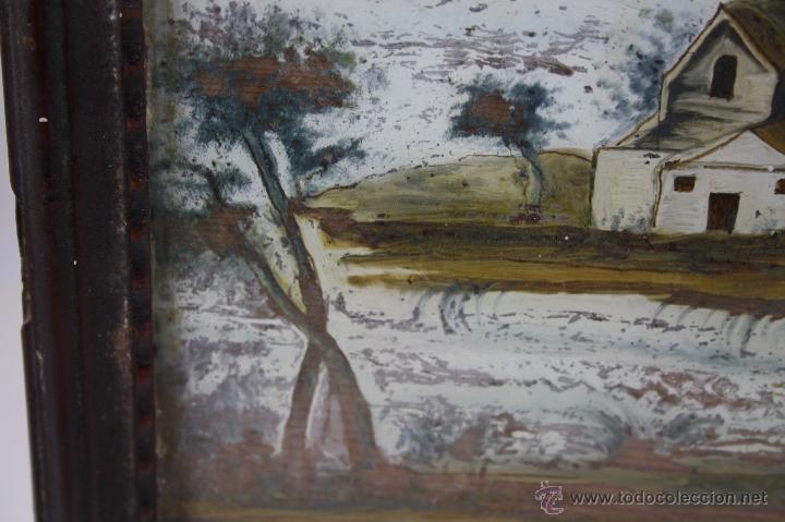 Arte: O1-065. OLEO POPULAR SOBRE CRISTAL - POSIBLE EX-VOTO - FINALES S.XVIII - PRINCIPIOS S.XIX - Foto 6 - 41202228