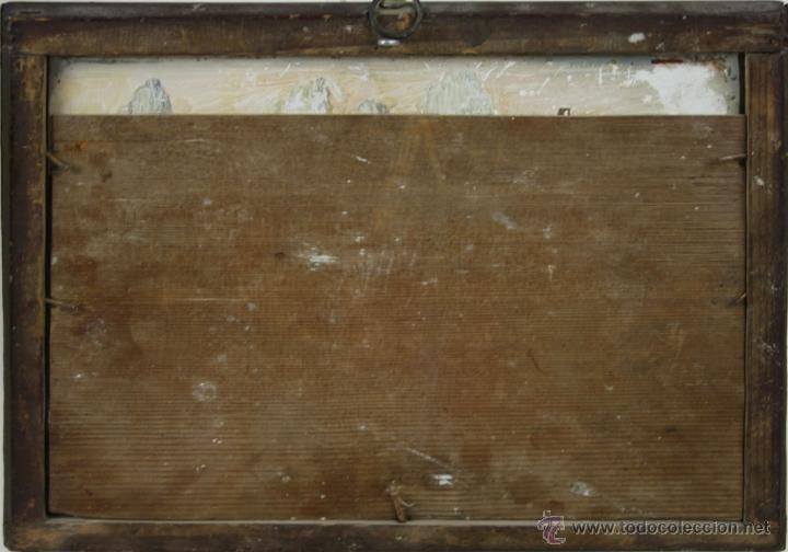 Arte: O1-065. OLEO POPULAR SOBRE CRISTAL - POSIBLE EX-VOTO - FINALES S.XVIII - PRINCIPIOS S.XIX - Foto 11 - 41202228