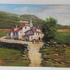 Arte: PRECIOSO PAISAJE DE ALDEA - J I TORRES. Lote 41242143