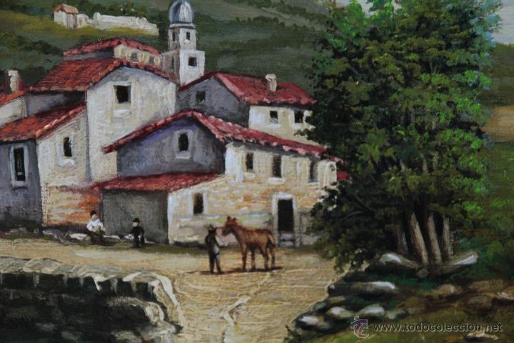 Arte: PRECIOSO PAISAJE DE ALDEA - J I TORRES - Foto 4 - 41242143