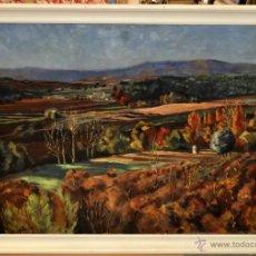 Arte: JUAN GIL GIL (BARCELONA, 1900 - 1984) OLEO SOBRE TELA. PAISAJE. Lote 248638515