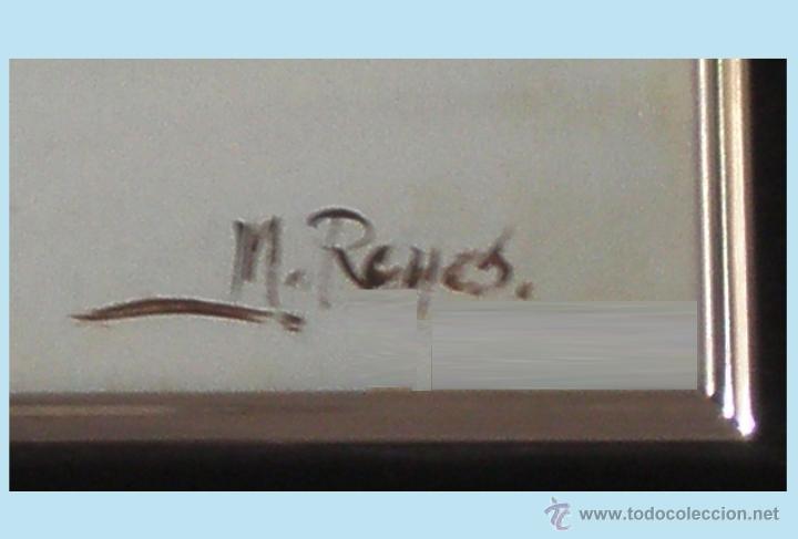Arte: REYES, MANUEL.-MADRID. -BODEGON- OLEO SOBRE LIENZO.85 X 70 CM. HIPERREALISMO.FIRMADO-MARCO DE LUJO - Foto 4 - 41244231
