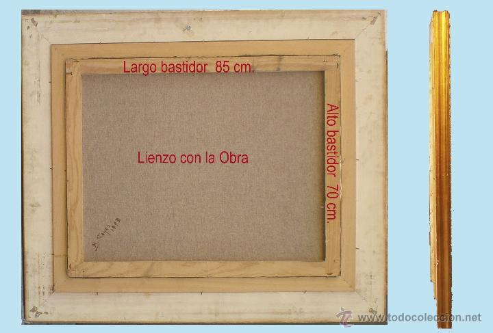 Arte: REYES, MANUEL.-MADRID. -BODEGON- OLEO SOBRE LIENZO.85 X 70 CM. HIPERREALISMO.FIRMADO-MARCO DE LUJO - Foto 5 - 41244231