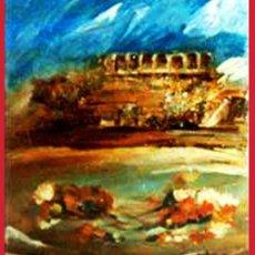 Arte: DE SANTIAGO, ROSENDO. (C. REAL 1936-2013) -PLAZA Y CLAVELES- OLEO SOBRE LIENZO. FDO. 66 X 82 CM. Lote 41272063