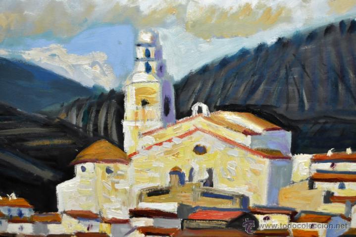 Arte: JORDI CURÓS VENTURA (1930 - 2017) OLEO SOBRE TELA. VISTA DE CADAQUÉS - Foto 3 - 41296323