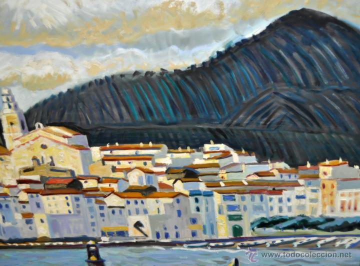 Arte: JORDI CURÓS VENTURA (1930 - 2017) OLEO SOBRE TELA. VISTA DE CADAQUÉS - Foto 4 - 41296323