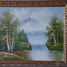 Kunst - Antigua cuadro oleo sobre tela ( paisaje ) firmado por el autor . - 41311201