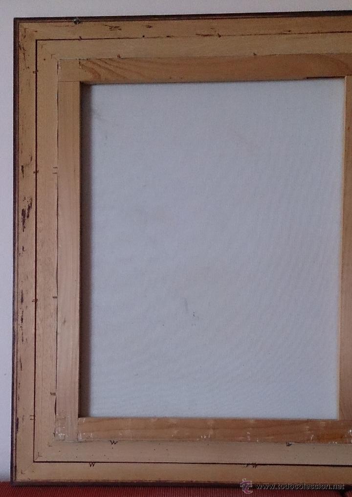 Arte: Antiguo cuadro de oleo sobre tela ( casa en el bosque ), firmado por el autor . - Foto 13 - 41311542