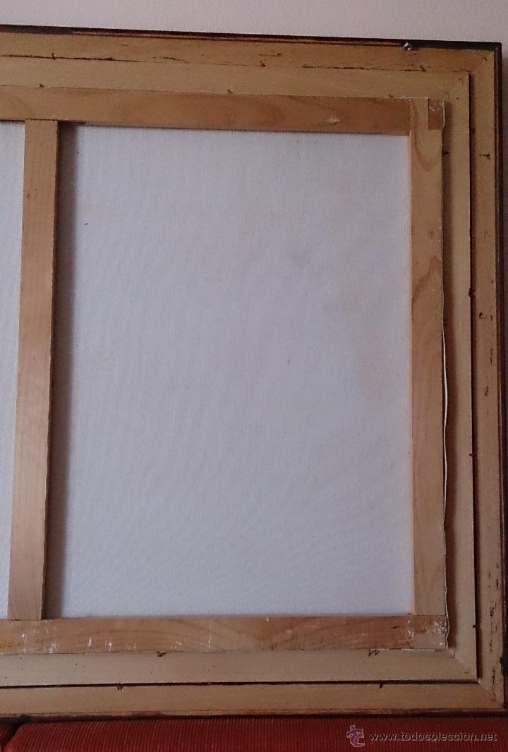 Arte: Antiguo cuadro de oleo sobre tela ( casa en el bosque ), firmado por el autor . - Foto 14 - 41311542