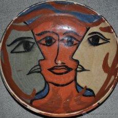 Arte: PLATO DE CERAMICA PINTURA ORIGINAL FIRMADO. Lote 41326021
