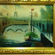 Arte: OLEO SOBRE LIENZO. PARIS . MEDIADOS SIGLO XX.SIN FIRMA. Lote 40076658