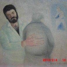 Arte: OLEO PINTURA FIRMADO ENFERMERO CON PACIENTE CENTRO SALUD PSIQUIATRICO SANTA FAZ ALICANTE. Lote 41374466