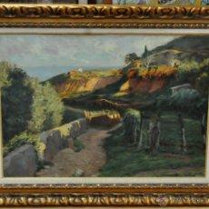 Arte: RAMÓN LLOVET (BARCELONA, 1917 - 1987) OLEO SOBRE TELA. PAISAJE. Lote 41424963