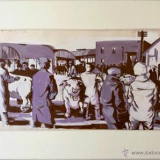 Arte: INTERESANTE ESCENA DE UNA MATANZA, REALIZADO EN LOS AÑOS 50-60, CALIDAD. Lote 41449758