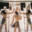 Arte: PRECIOSA TELA EGIPCIA HECHA A MANO DIRECTA SOBRE EL PAPEL HECHO DE MADERA.ESTA FIRMADA.. Lote 41468188
