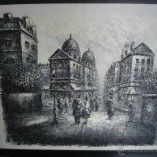 Arte: PAISAJE URBANO - OLEO SOBRE TELA - FIRMA ILEGIBLE - 66,5 X 58 CM.. Lote 41479405