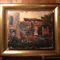 Arte: OLEO SOBRE TABLA, FIRMADA PARTE POSTERIOR CLAPES VILA, AÑOS 60, MEDIDAS 27X22 CM, SIN ENMARCAR. Lote 41489569