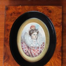 Arte: ISABEL I (ELIZABETH I) REINA DE INGLATERRA (1553-1603) MINIATURA SOBRE MARFIL. Lote 41490148
