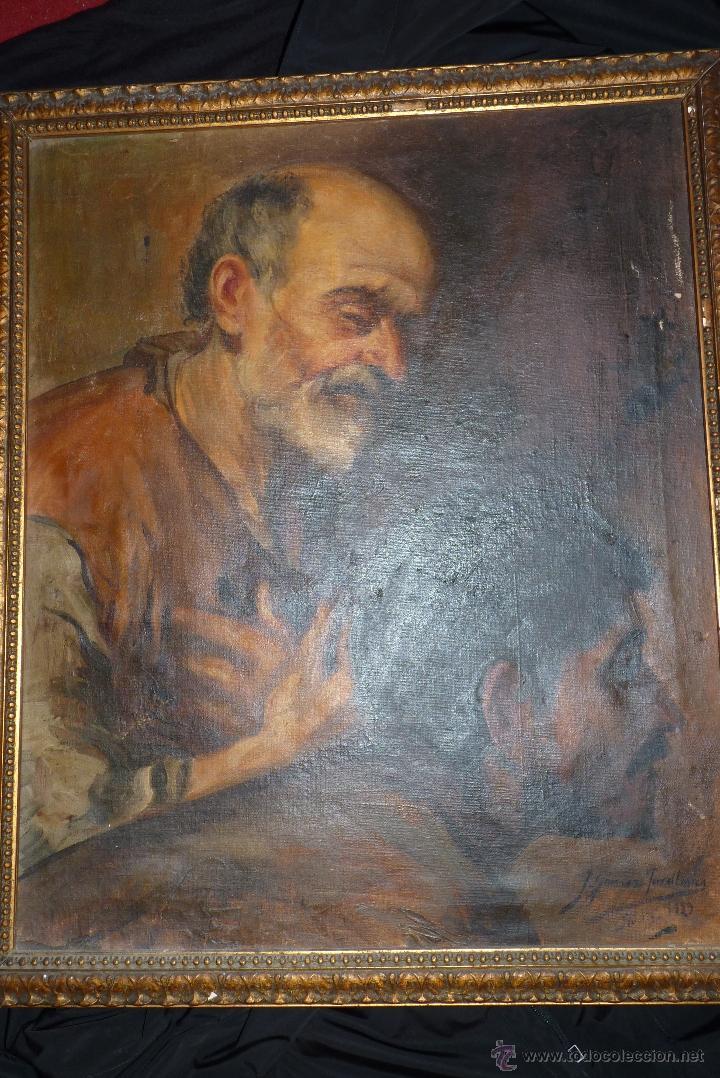 Arte: PINTURA AL OLEO, FECHADA Y FIRMADA 1929 EN SEVILLA - Foto 2 - 41509337