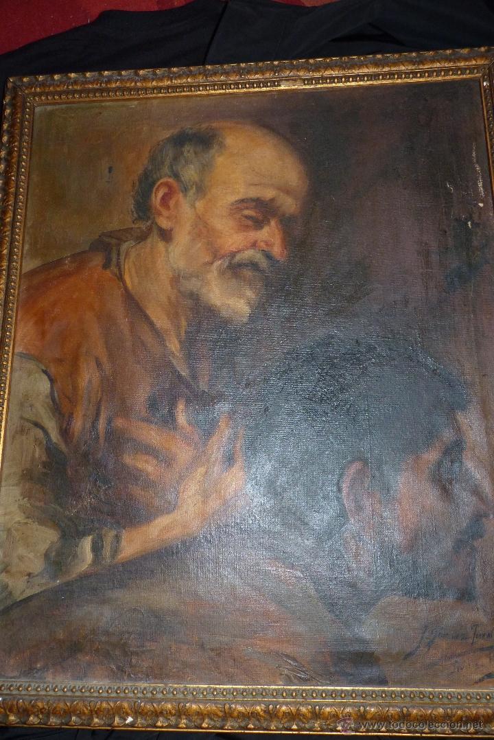 Arte: PINTURA AL OLEO, FECHADA Y FIRMADA 1929 EN SEVILLA - Foto 3 - 41509337