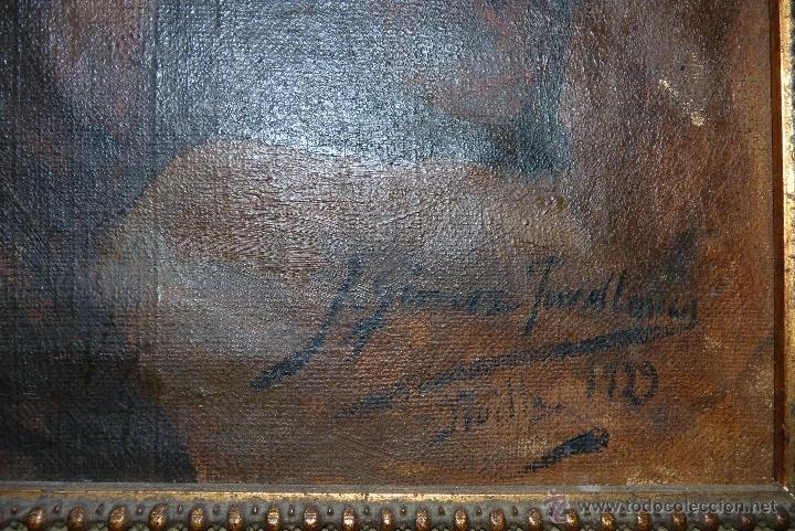 Arte: PINTURA AL OLEO, FECHADA Y FIRMADA 1929 EN SEVILLA - Foto 5 - 41509337