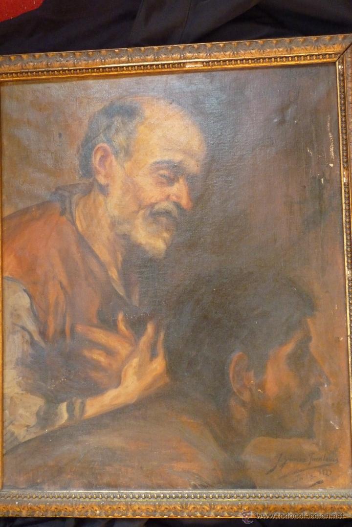 Arte: PINTURA AL OLEO, FECHADA Y FIRMADA 1929 EN SEVILLA - Foto 6 - 41509337