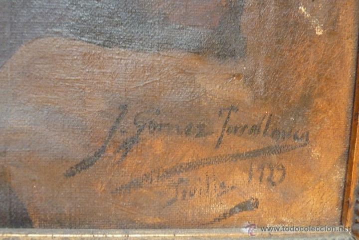 Arte: PINTURA AL OLEO, FECHADA Y FIRMADA 1929 EN SEVILLA - Foto 7 - 41509337
