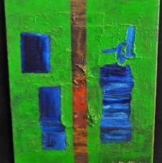 Arte: JOAN SIBINA. ACRÍLICO SOBRE TELA FECHADO DEL AÑO 2005. COMPOSICIÓN ABSTRACTA. Lote 213065436