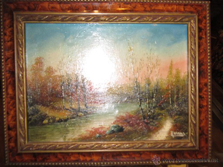 óleo sobre tabla - paisaje - firmado llorens. m - Comprar Pintura al ...