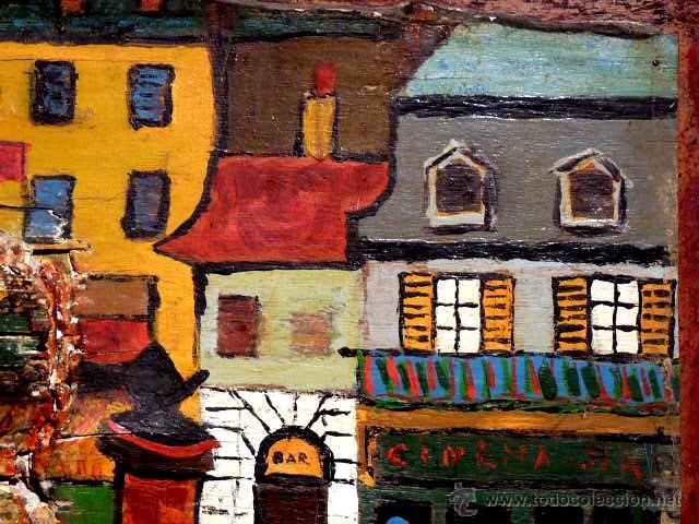 Arte: extraña obra al óleo sobre madera antigua.firmado C.Casamitjana.fechado a Paris 1939 - Foto 7 - 41578972