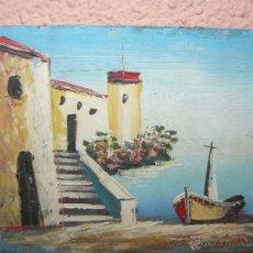 Arte: OLEO / TABLEX - ANÓNIMO - MARINA. Lote 41669492