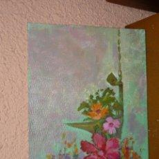 Arte: OLEO / TABLILLA ENTELADA - ANÓNIMO - FLORES. Lote 41711474