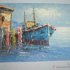 Arte: *OLEO SOBRE LIENZO-MARINA-FIRMADA-18,5X15,5 CMS-ANTIGUO-NUEVO-.. Lote 41725991