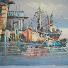Arte: *OLEO SOBRE LIENZO-MARINA-FIRMADA-26X22 CMS-ANTIGUO-NUEVO-.. Lote 41736403