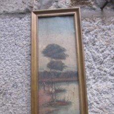 Arte: ANTIGUO OLEO SOBRE LIENZO PEGADO A TABLA - 49X16CM APROX 1930 -ORTUNO, ORTUÑO ??? + INFO. Lote 41742849